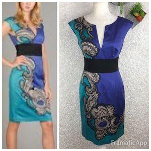 Trina Turk Silk Paisley Sheath Dress | 2